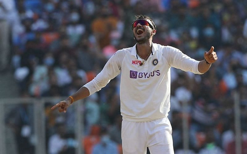 Axar Patel took six wickets on the opening day of the Test match in Ahmedabad (Image Courtesy: BCCI)