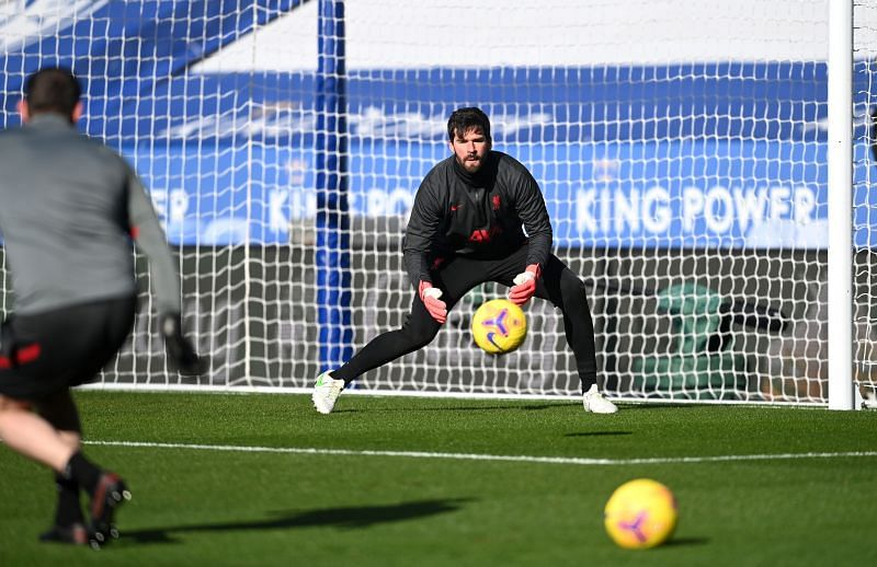 Alisson was not seen in training pictures this week