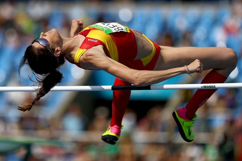 An athlete competes in the Women