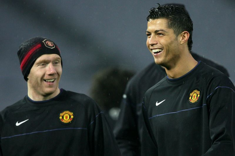 Paul Scholes and Cristiano Ronaldo