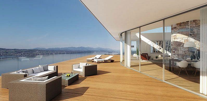 The balcony of Roger Federer