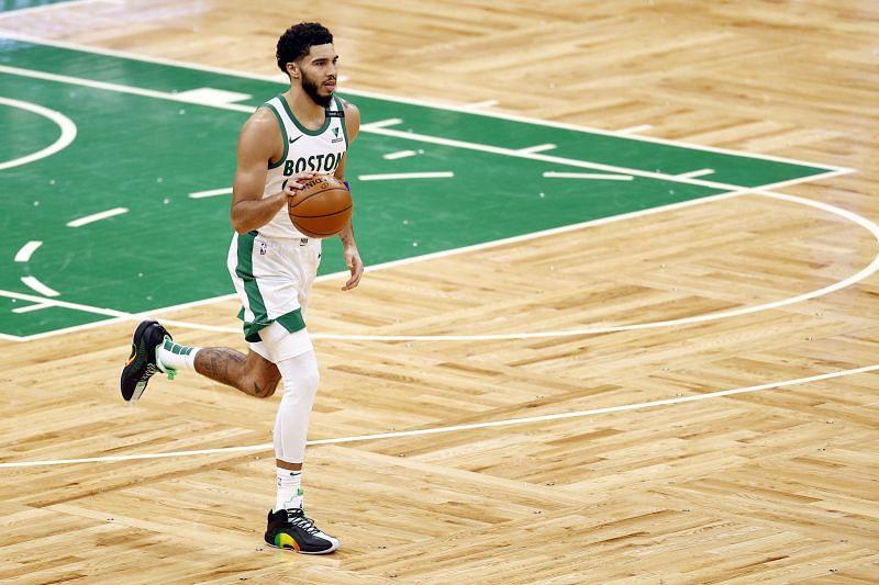 Jayson Tatum (#0) of the Boston Celtics.