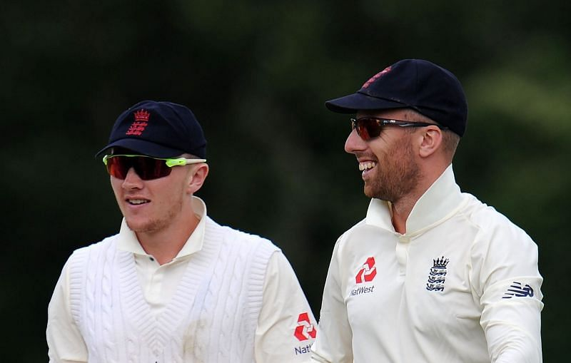 Jack Leach (right) and Dominic Bess (left) have their work cut out against India.