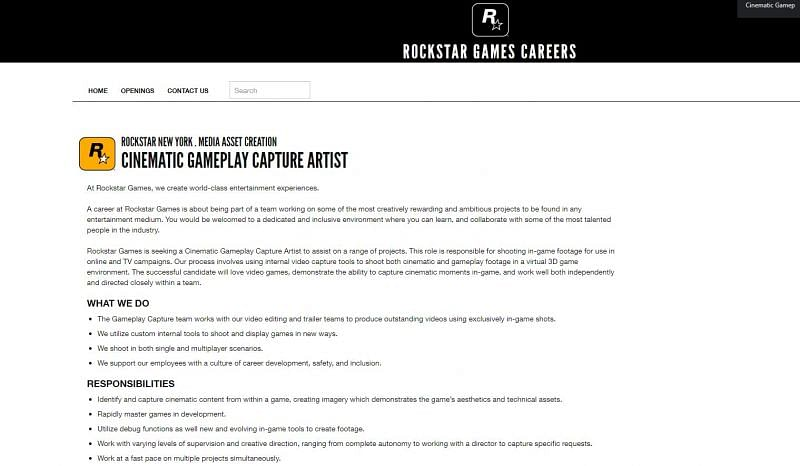 Rockstar Games Careers