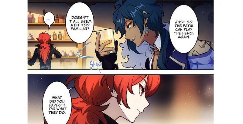 Genshin Impact manga (Image via Webtoon)