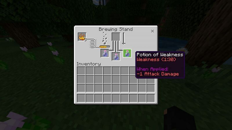 Crafting potion of weakness