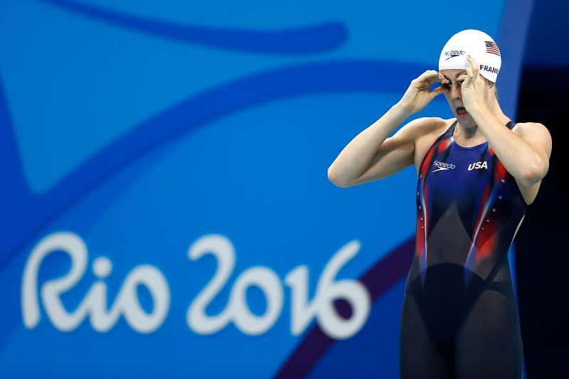 Missy Franklin at the Rio 2016 Olympic Games