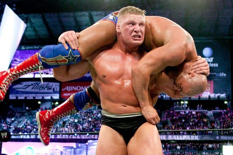 A lot unfolded between Brock Lesnar and Kurt Angle
