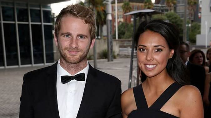 Kane Williamson and his Wife