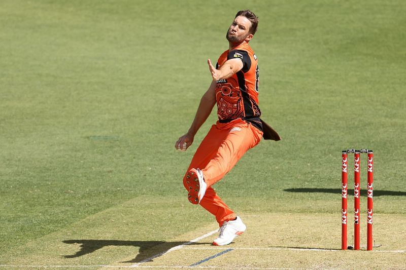 Andrew Tye in action for Perth Scorchers