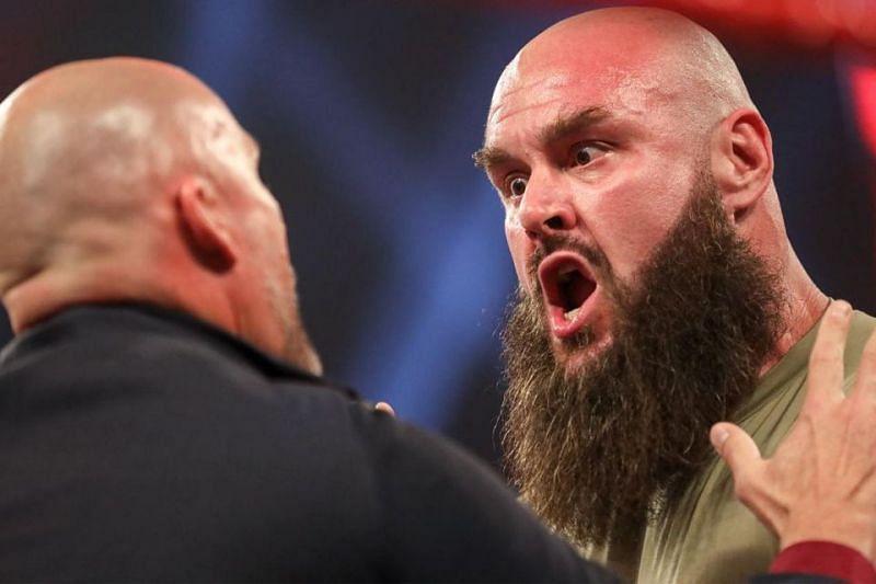 Braun Strowman and Adam Pearce on WWE RAW