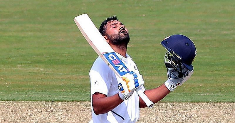 Rohit Sharma scored an unbeaten half-century on the first day of the third Test against England