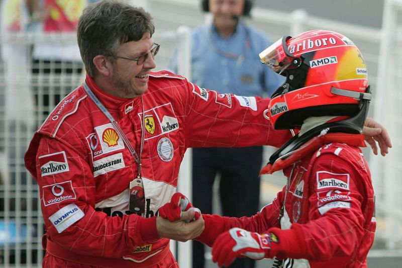 Michael Schumacher is responsible for the glory run Ferrari enjoyed from 1999-2004. Photo: Getty Images