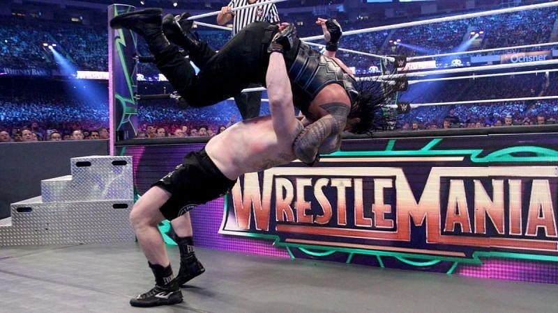 Brock Lesnar defeated Roman Reigns at WrestleMania 34