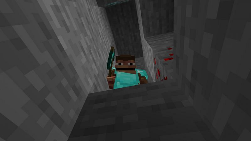 Monke no find diamond (Image via Minecraft)