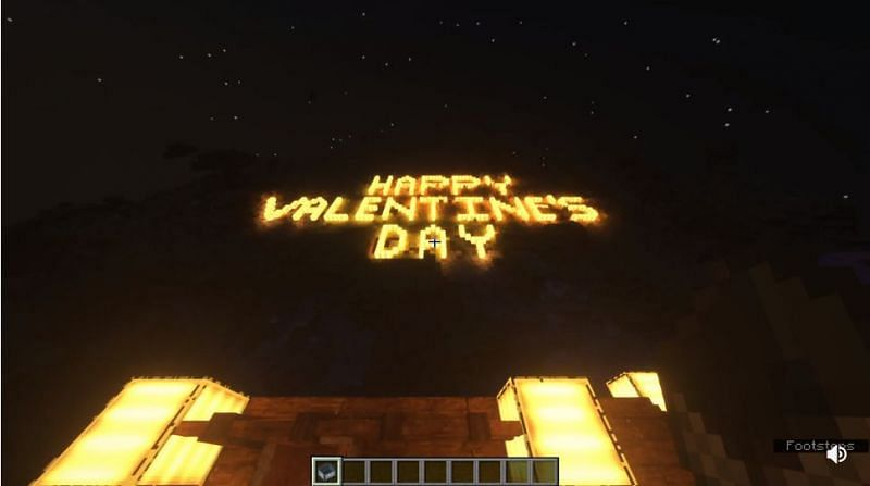 "The message ""Happy Valentine"