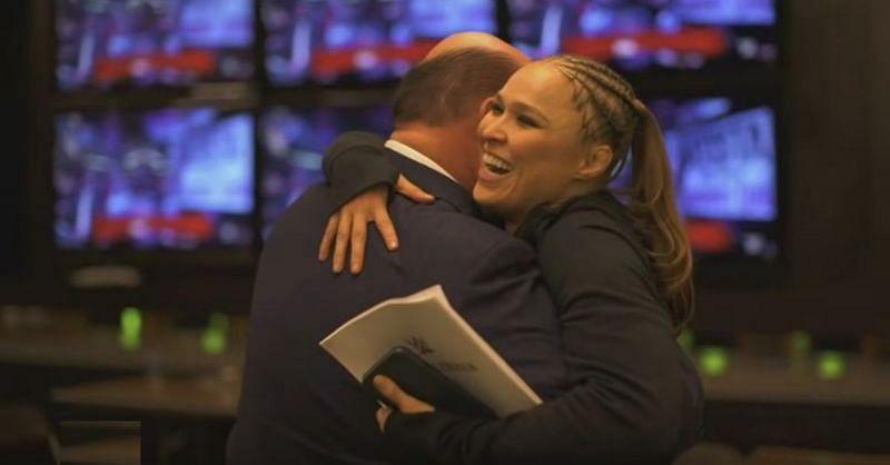 Paul Heyman and Ronda Rousey
