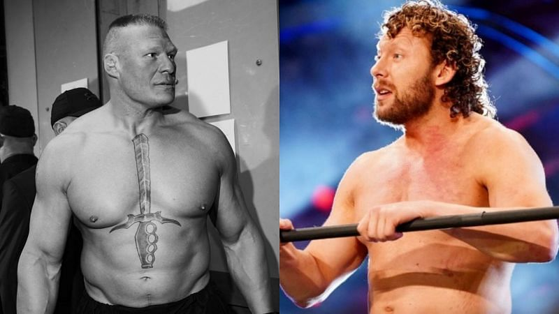 Brock Lesnar and Kenny Omega.