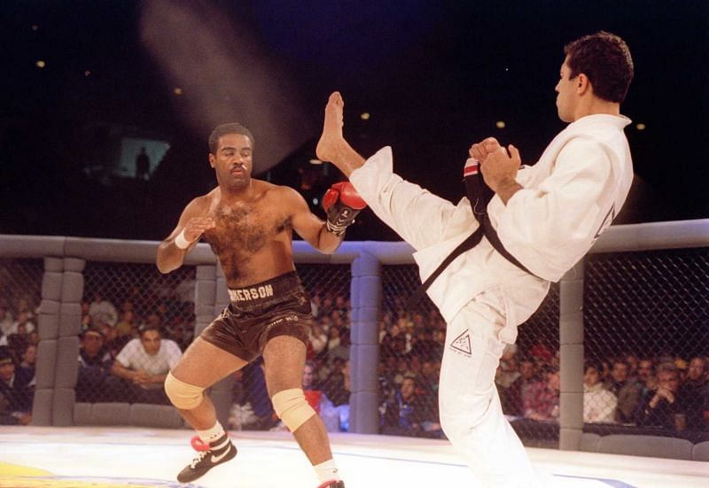 Art Jimmerson famously wore one glove to fight Royce Gracie at the first UFC event in 1993.