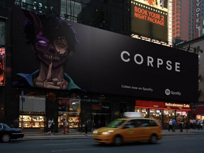 Corpse Husband looks all set to receive his very own billboard in New York