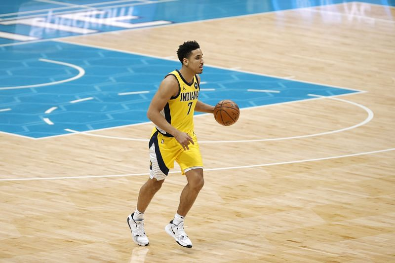 Malcolm Brogdon #7 of the Indiana Pacers