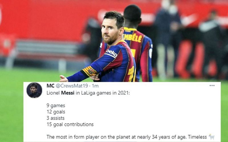 Lionel Messi was unstoppable today
