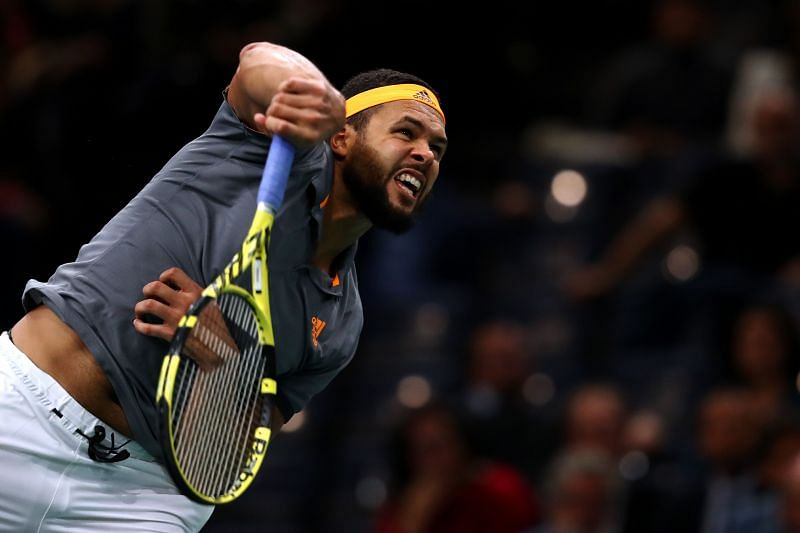 Jo-Wilfried Tsonga will look to make the best of his big serve.