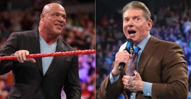 Kurt Angle; Vince McMahon