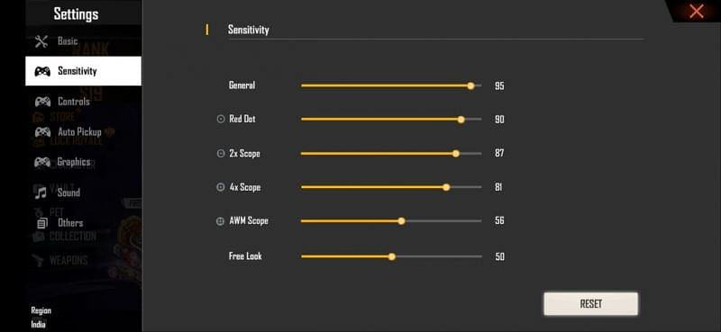 Best sensitivity settings for PC emulators (Image via Free Fire)