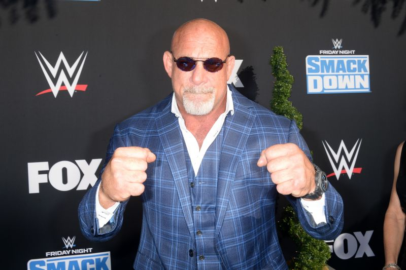 Goldberg at the premiere of the 20th anniversary of WWE Smackdown
