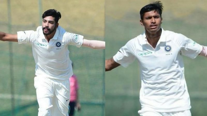 Mohammed Siraj (left) and Navdeep Saini (right)