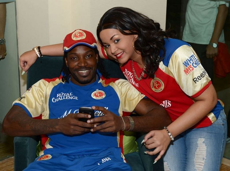 Chris Gayle and his Wife