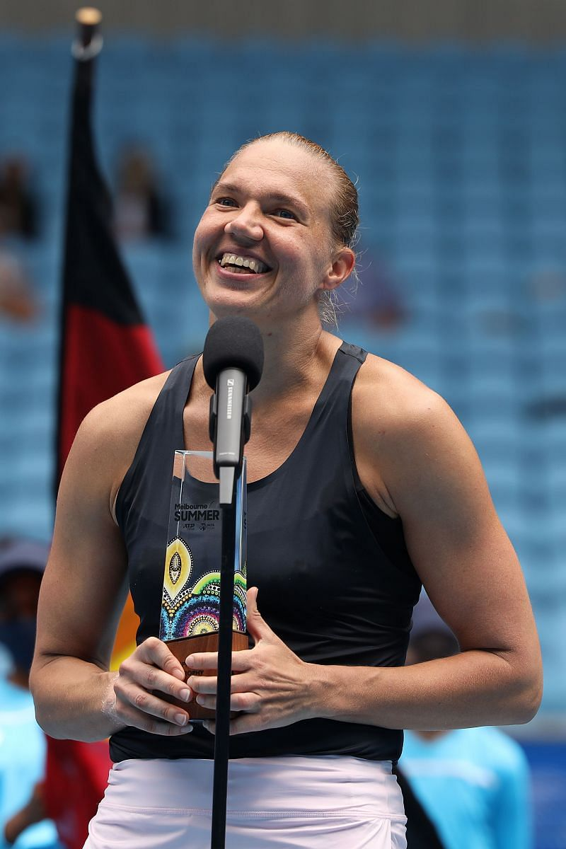 Kaia Kanepi at the 2021 WTA 500 Gippsland Trophy