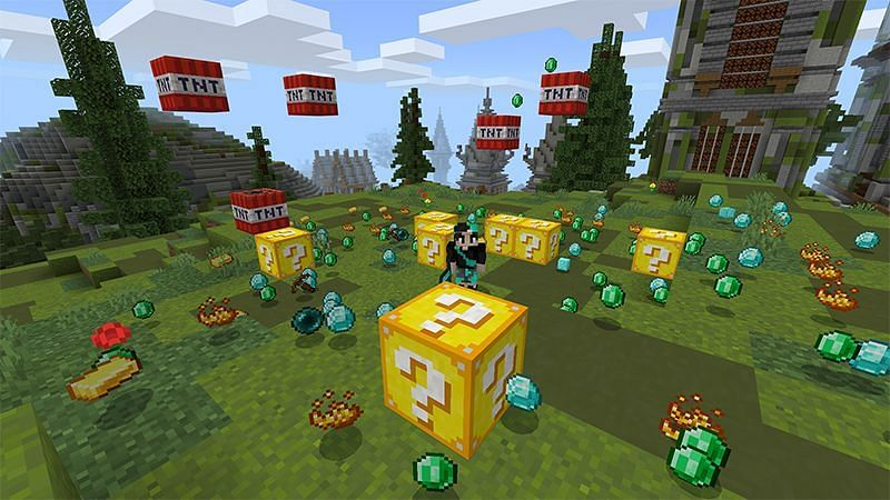 The best Minecraft servers that feature lucky blocks (Image via Minecraft)