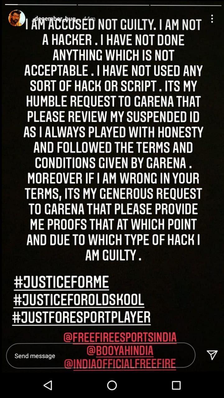 Aayush instagram story