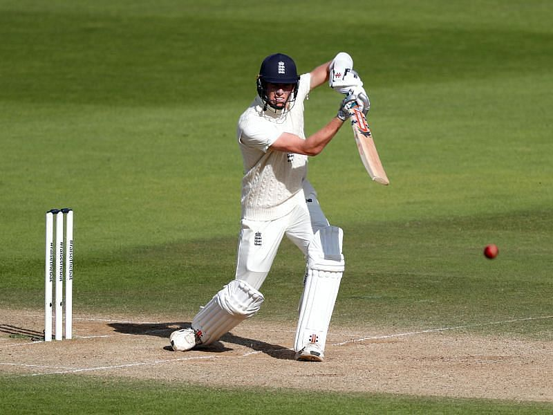 Zak Crawley in action for England