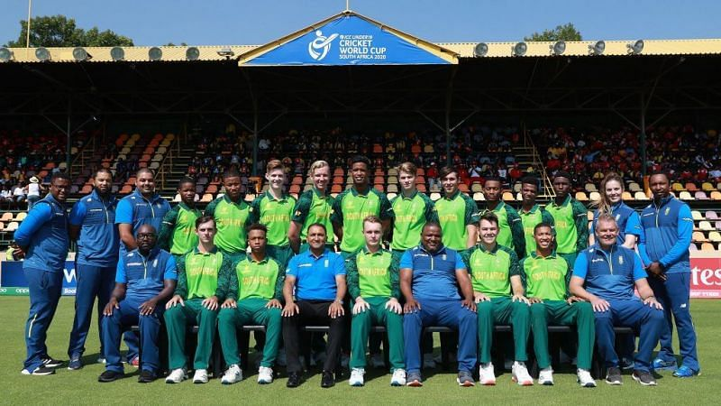 South Africa Team Photo, U-19 2020 Cricket World Cup (Photo: ICC) How many of these U-19 players will leave South Africa to seek opportunities abroad in the future?