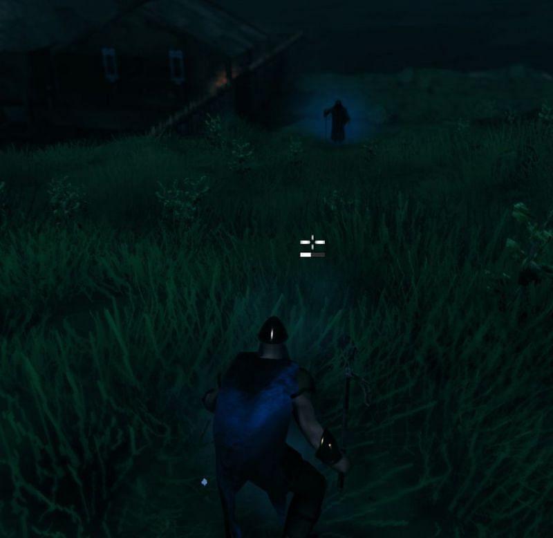The mysterious figure as seen in Valheim (Image via u/Alien_effigy)