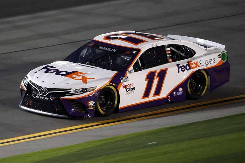 Denny Hamlin finished sixth in the 2011 Busch Clash on Tuesday.