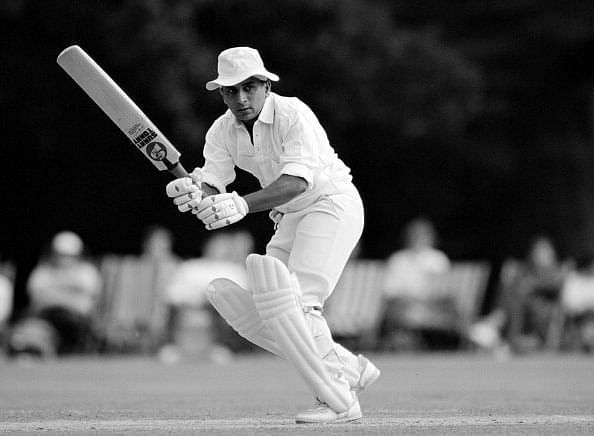 Sunil Gavaskar scored his 10,000th Test run at the Motera.