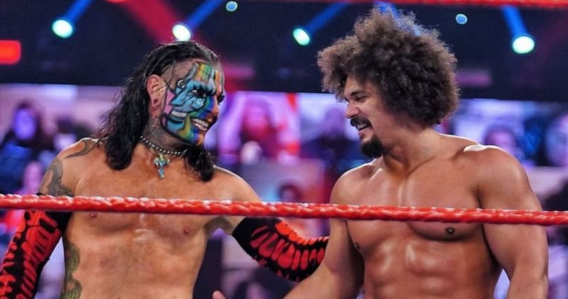 Jeff Hardy and Carlito on RAW