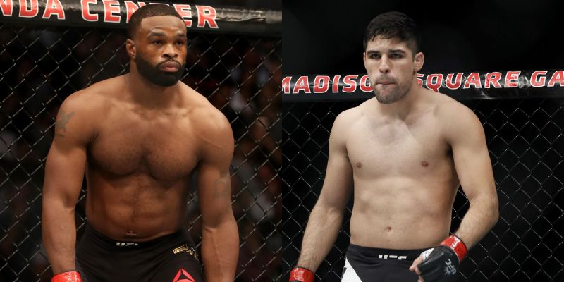 Tyron Woodley (L) will fight Vicente Luque (R) at UFC 260 on March 27th, 2021