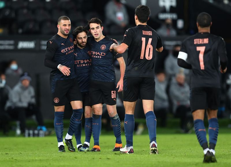 Manchester City defeated Swansea City 3-1 in the FA Cup