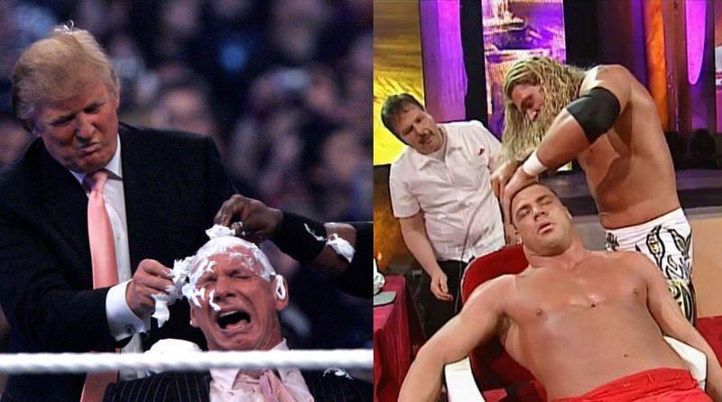 WWE सुपरस्टार्स जिन्हें रिंग में गंजा कर दिया गया