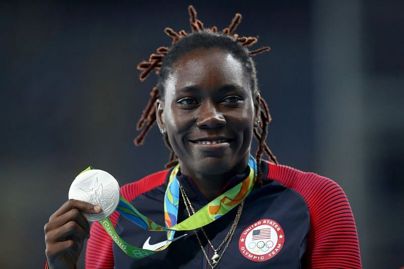Silver medalist Brittney Reese of the United States at the Rio 2016 Olympic Games