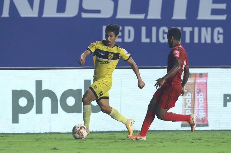 Mohammed Yasir (L) will miss Hyderabad FC
