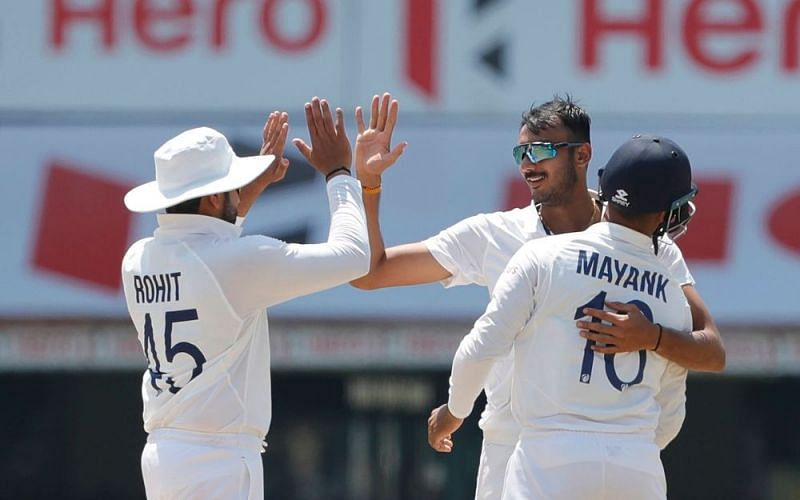 Debutant Axar Patel picked five wickets in the second innings