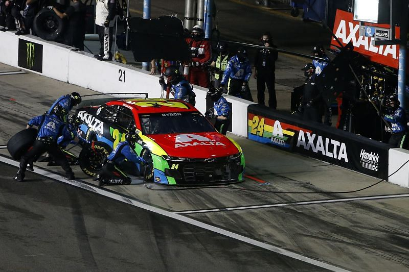Second-fastest qualifier William Byron was involved in a wreck during Duel 2. Photo: Getty Images