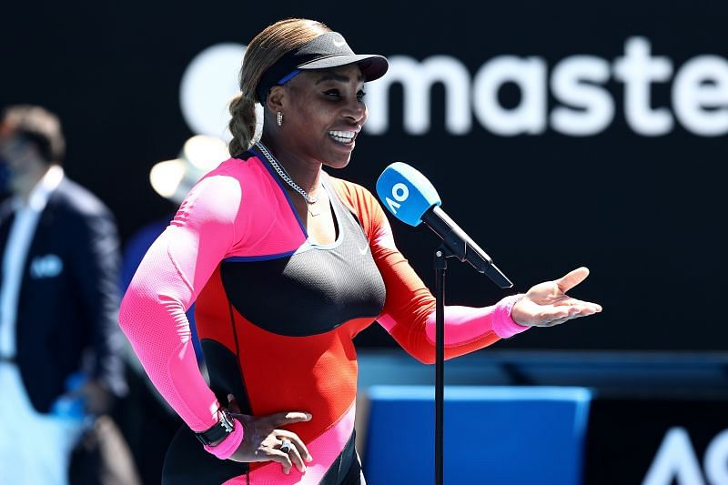 Serena Wiliams on Day 5 at the 2021 Australian Open