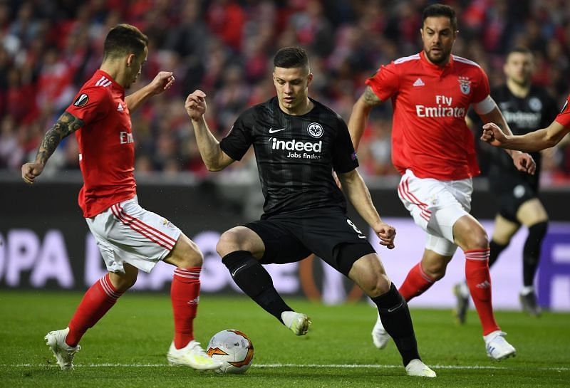 Luka Jovic in action